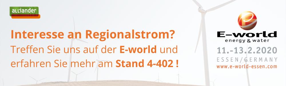 Treffen Sie uns auf der E-world 2020